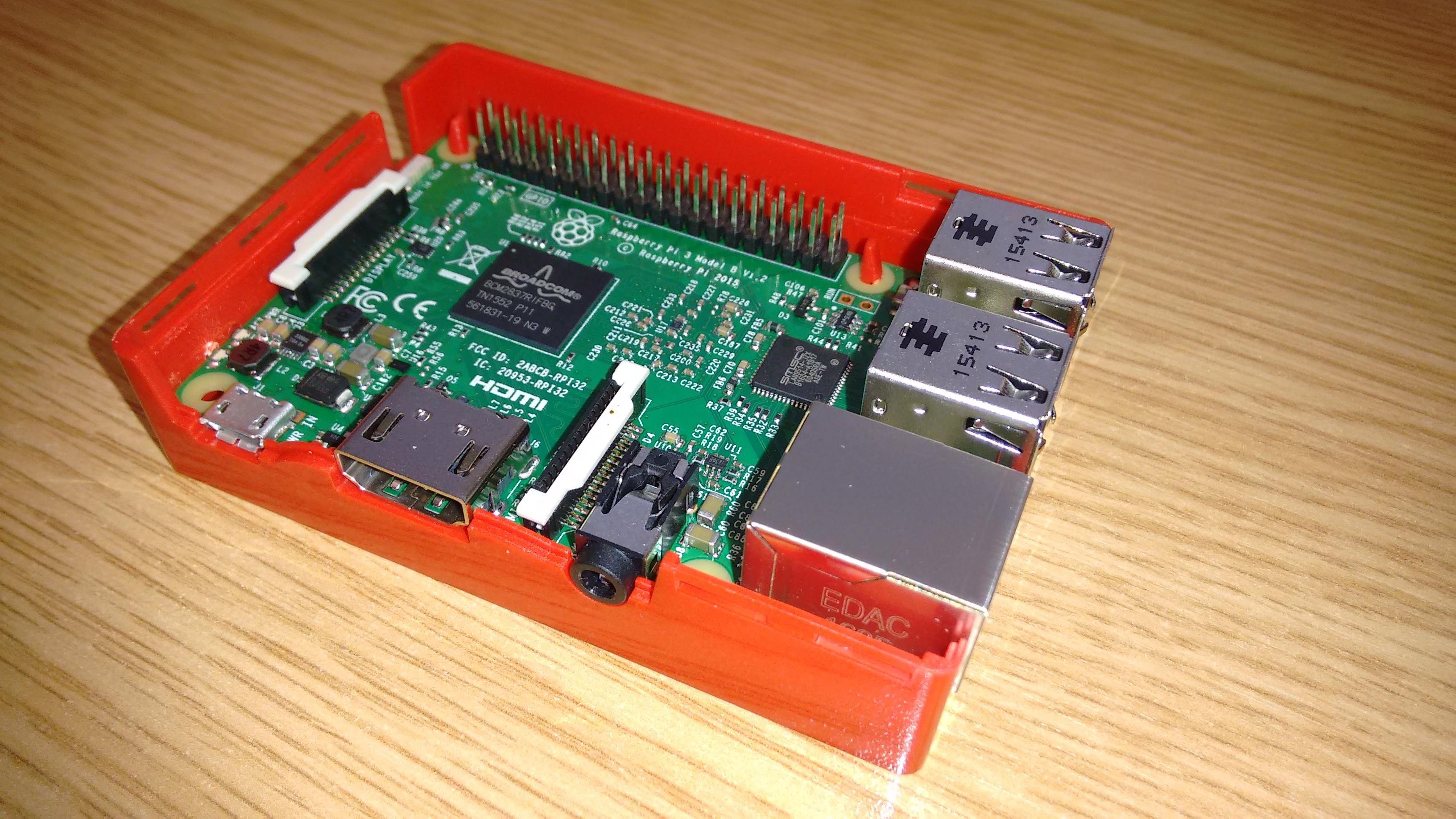 Cased Raspberry Pi Open